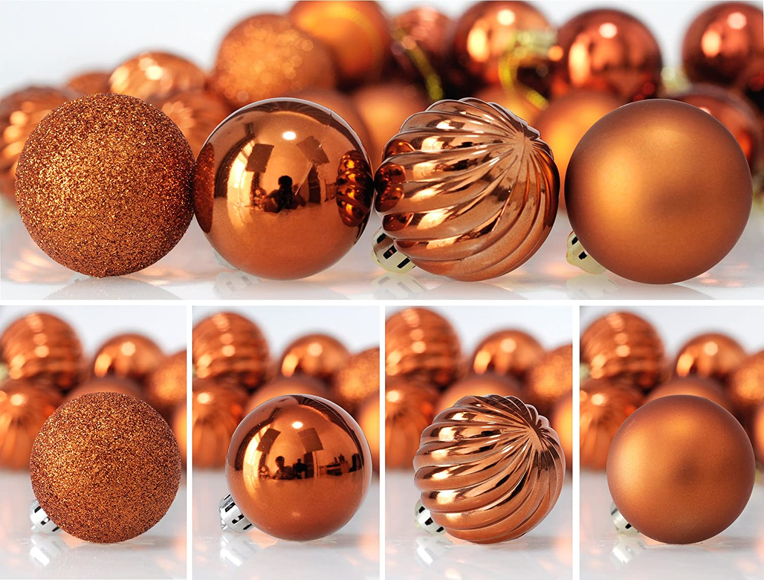 Amazon.com: KI Store 24ct Christmas Ball Ornaments Shatterproof Christmas  Decorations Tree Balls For Holiday Wedding Party Decoration, Tree Ornaments  Hooks ...