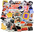 A Sticker Shop [60pcs) Friends TV Show Merchandise Fans Stickers for Laptop Water Bottle Luggage Snowboard Bicycle Skateboard Decal for Kids Teens Adult Waterproof Aesthetic Stickers