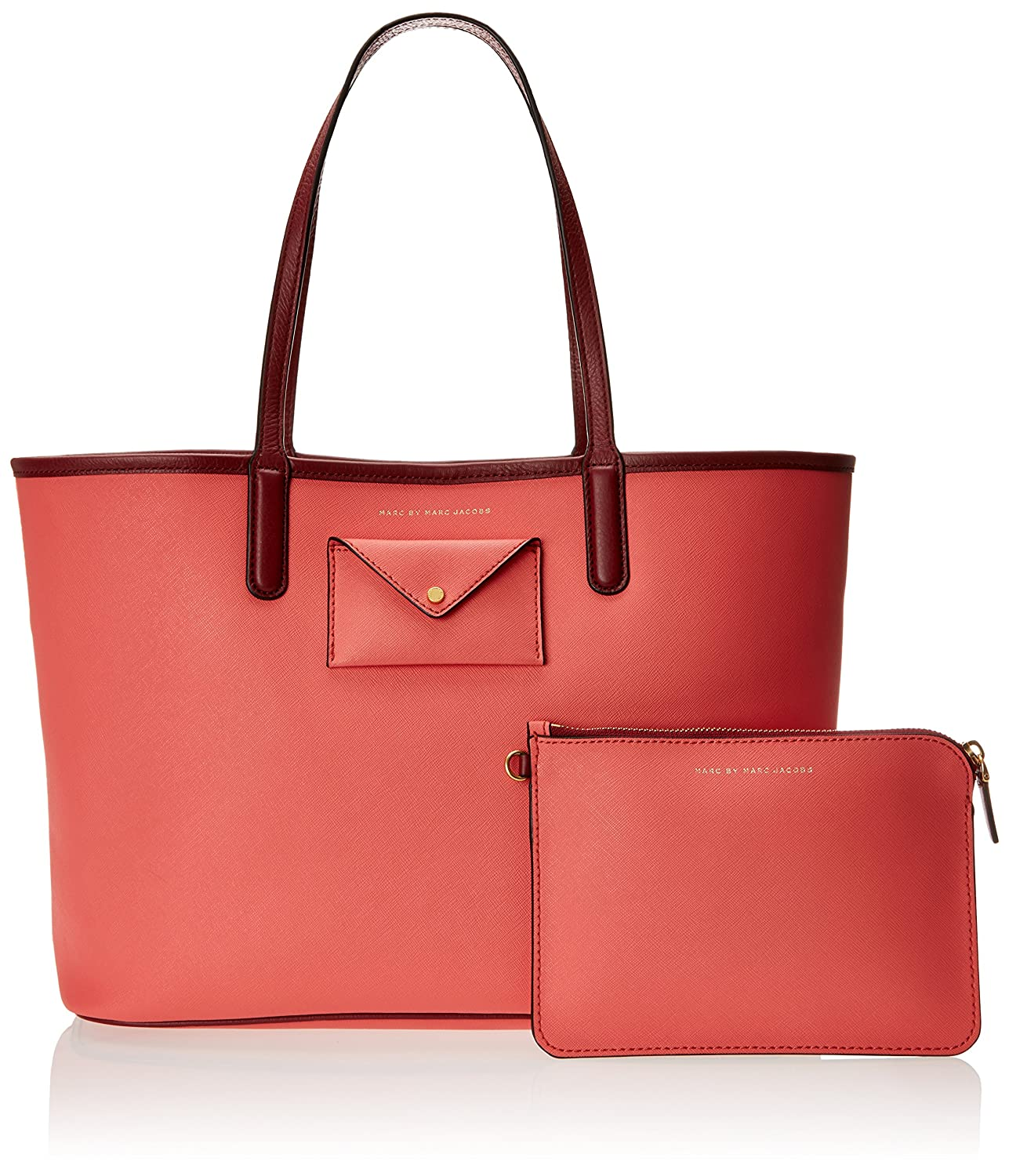 Amazon.com  Marc by Marc Jacobs Women s Metropolitote Colorblocked Tote 48,  Rose Bush, One Size  Shoes adf470024ed6