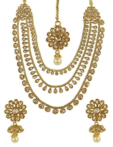 MUCHMORE Bollywood Awesome Style Polki Indian Necklace Traditional Jewellery for woman's vjQimb