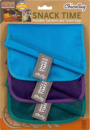 Amazon.com: ChicoBag Bolsas para bocadillos rePETe (Pet ...