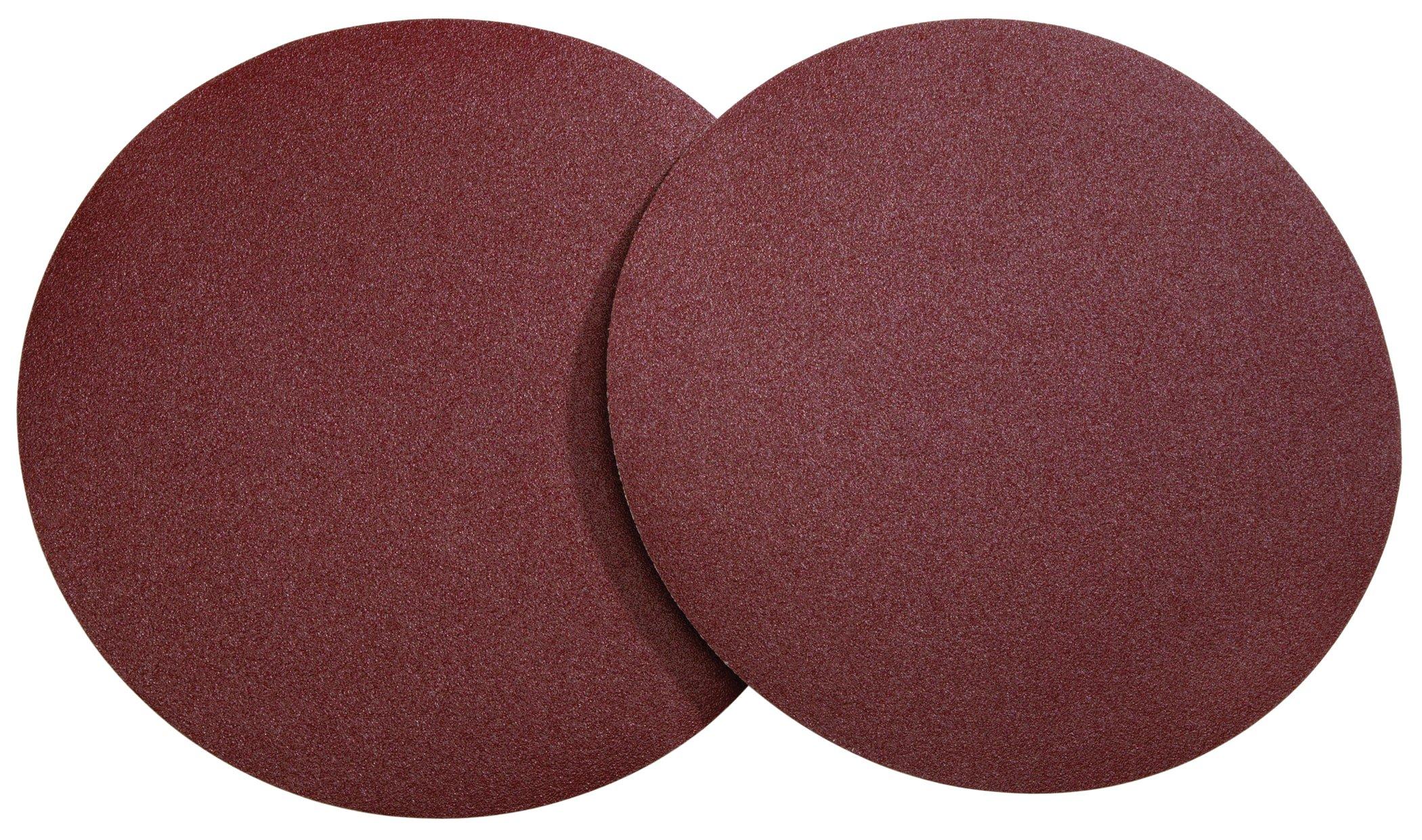 Woodstock D1336 12-Inch Diameter PSA 80 Grit Aluminum Oxide Sanding Disc, 2-Pack