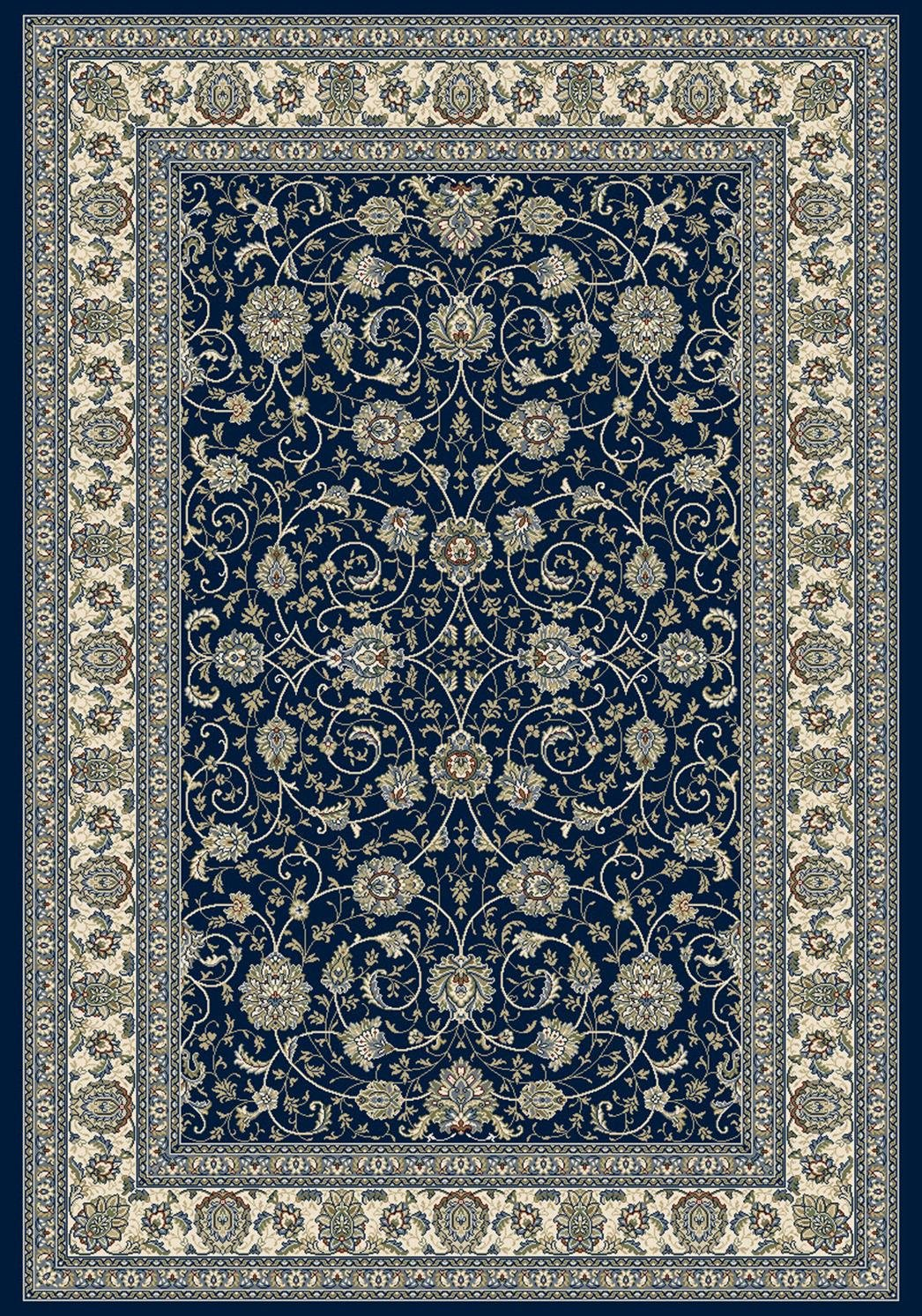 Dynamic Rugs AN24571203464 Ancient Garden Collection Runner Rug, 2' x 3'11', Blue/Ivory