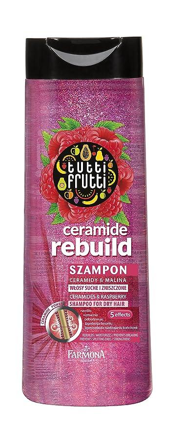 ceramida Champú para cabello seco Tutti Frutti Frambuesa, 400 ml, Características: regenera,