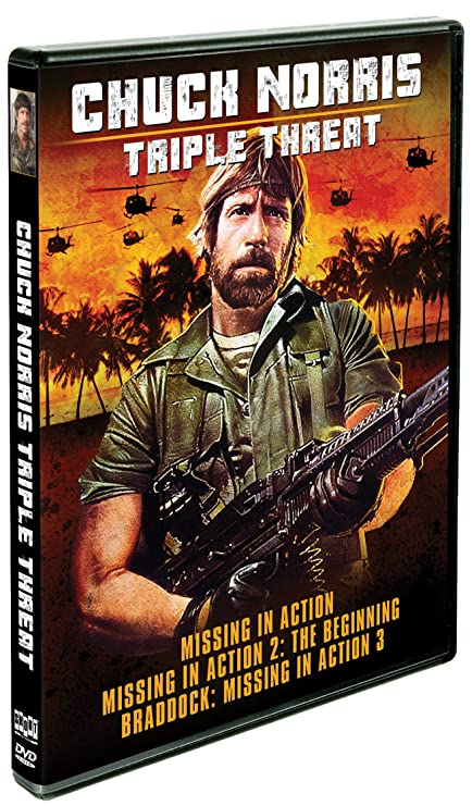 Chuck Norris: Triple Threat   Missing In Action / Missing In Action 2: The  Beginning / Braddock: Missing In Action 3: Amazon.ca: Chuck Norris, ...
