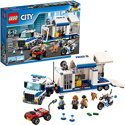 Amazon Com Lego City Police Mobile Command Center Truck 60139 Building Toy Action Cop Motorbike And Atv Play Set For Boys And Girls Aged 6 To 12 374 Pieces Toys Games