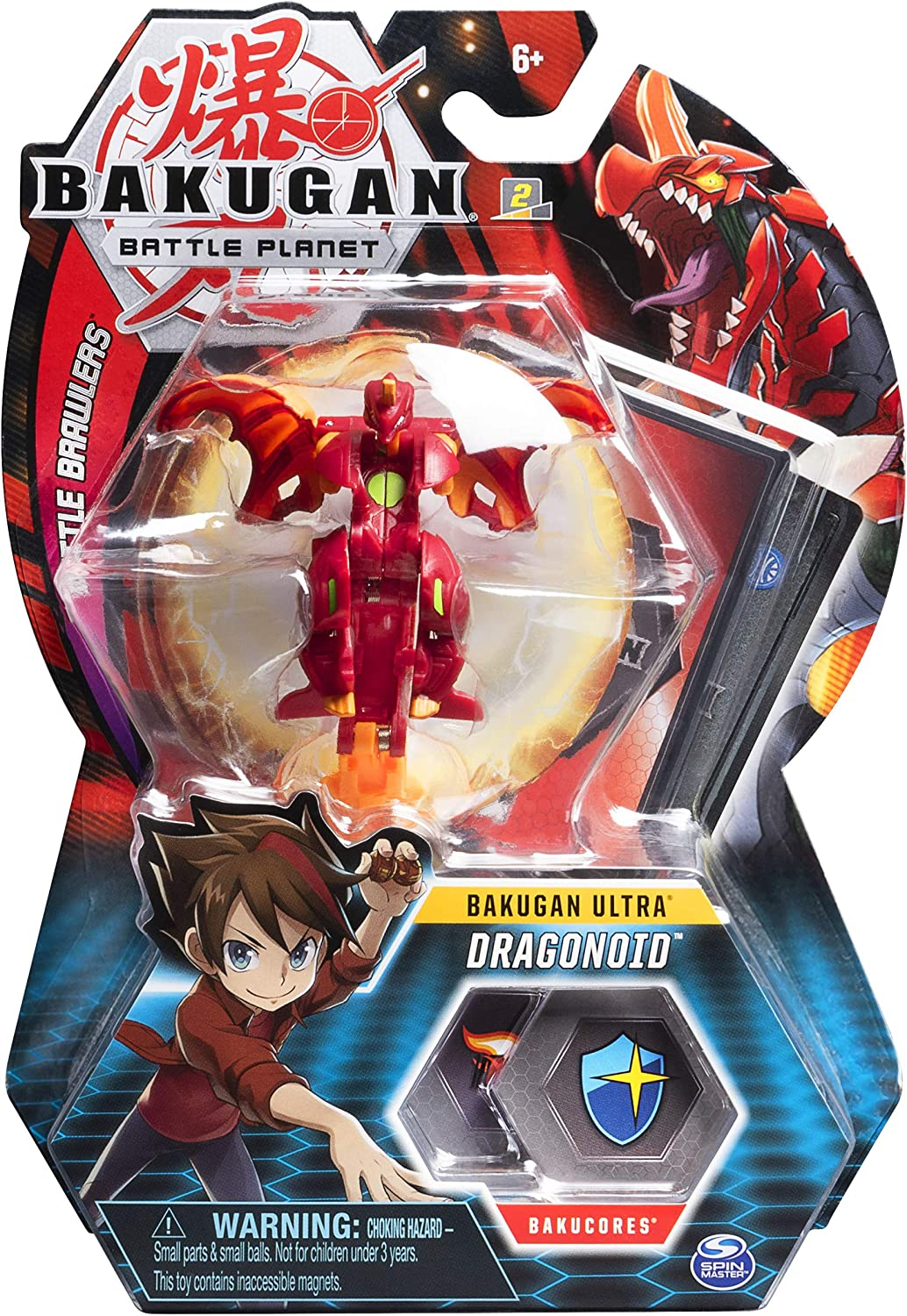 Amazon Com Bakugan Ultra Dragonoid 3 Inch Collectible Action Figure And Trading Card For Ages 6 And Up Toys Games