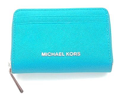 95682c250bb2fa Michael Kors Money Pieces Zip Around Card Case Embossed Leather (Tile  Blue): Handbags: Amazon.com