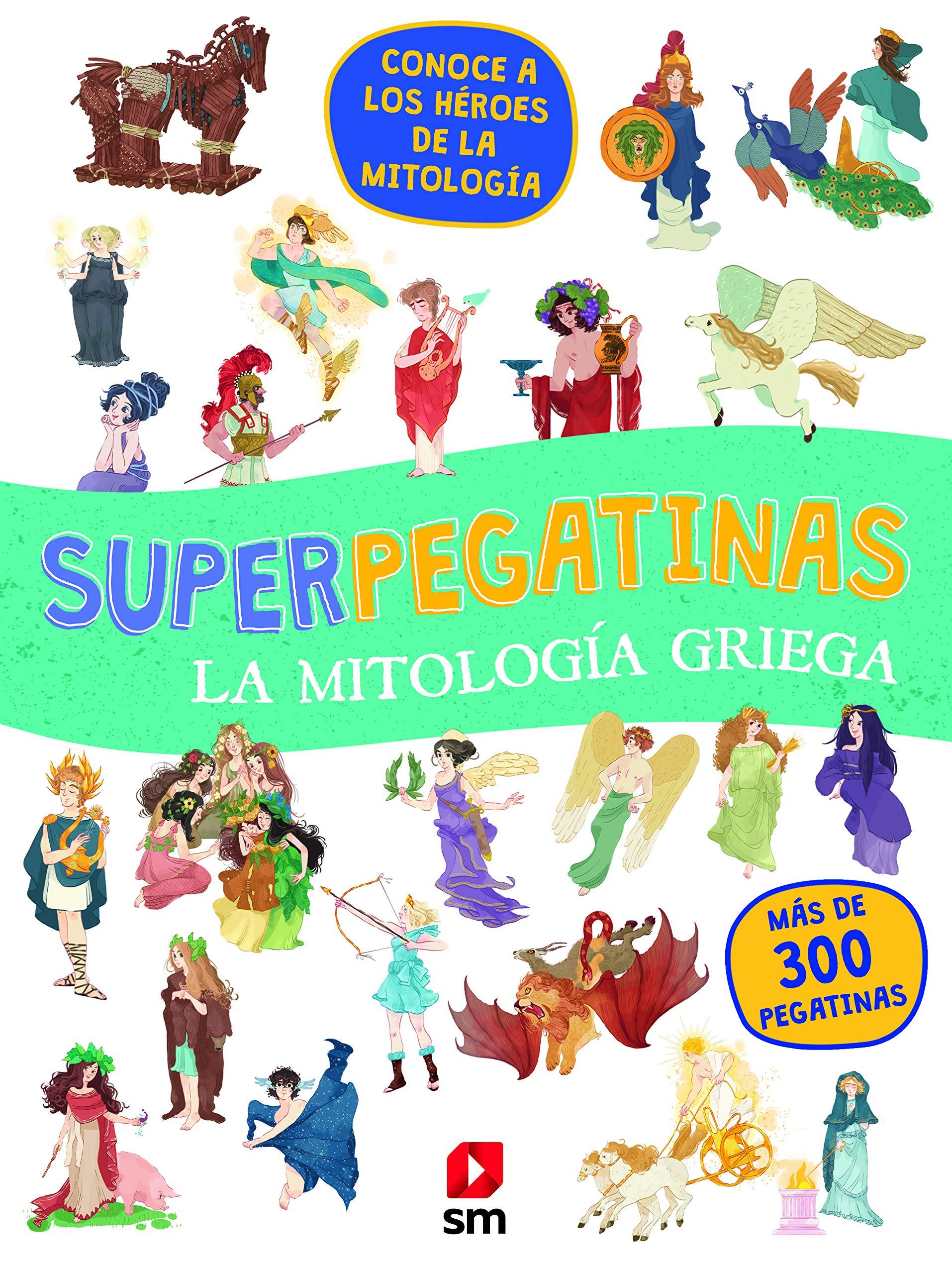Superpegatinas La mitología griega: Amazon.es: Varios Autores,, Macini, Fabio, Serrano, Beatriz: Libros
