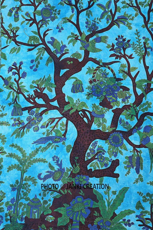 Tree of Life Tapestry Wall Hanging Bohimain Dorm Decor Cotton Tapestry