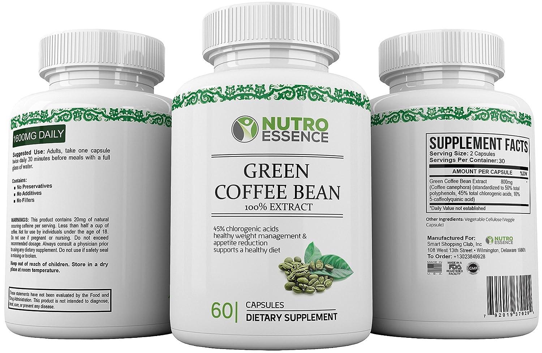 green coffee bean extract 45 chlorogenic acid