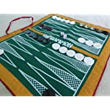 BagGammon - Travel backgammon set in a bag - full size cloth board