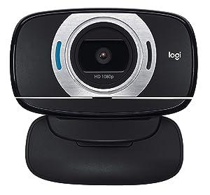 Logitech HD Laptop Webcam C615 with Fold-and-Go Design, 360-Degree Swivel, 1080p Camera