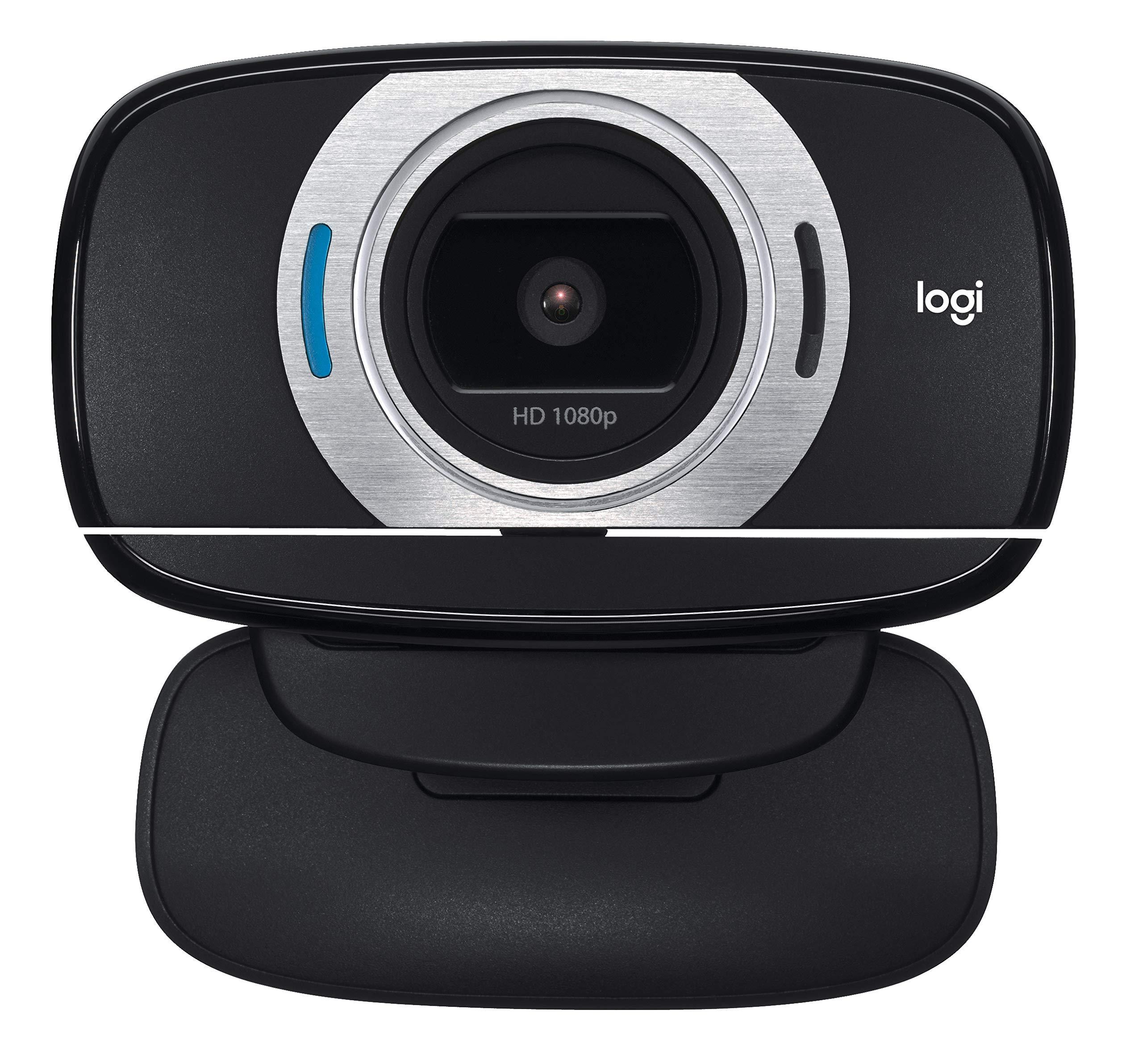 로지텍 HD 웹캠 C615 화상 카메라 Logitech HD Laptop Webcam C615 with Fold-and-Go Design, 360-Degree Swivel, 1080p Camera,Standard Packaging