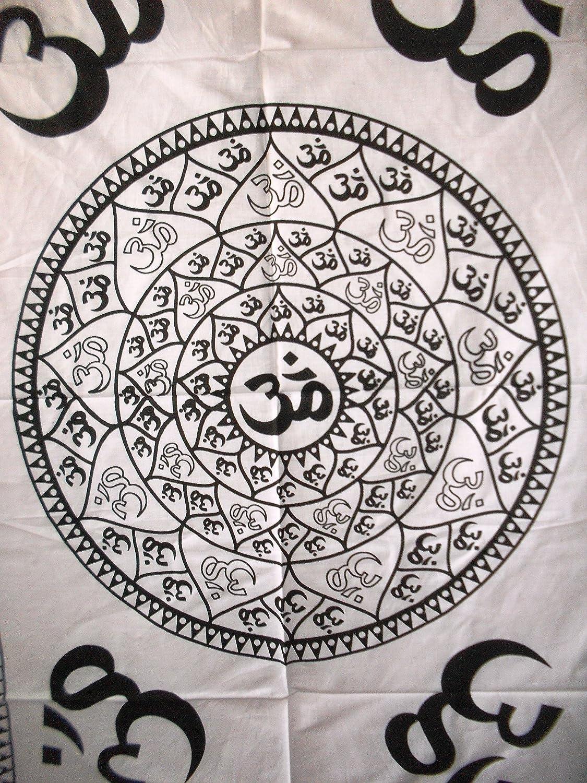 Amazon com: Traditional Jaipur Om Mandala Wall Art Poster