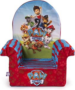 Marshmallow Furniture Foam Toddler Comfy Chair Kid's Furniture for Ages 18 Months and Up, Nickelodeon Paw Patrol