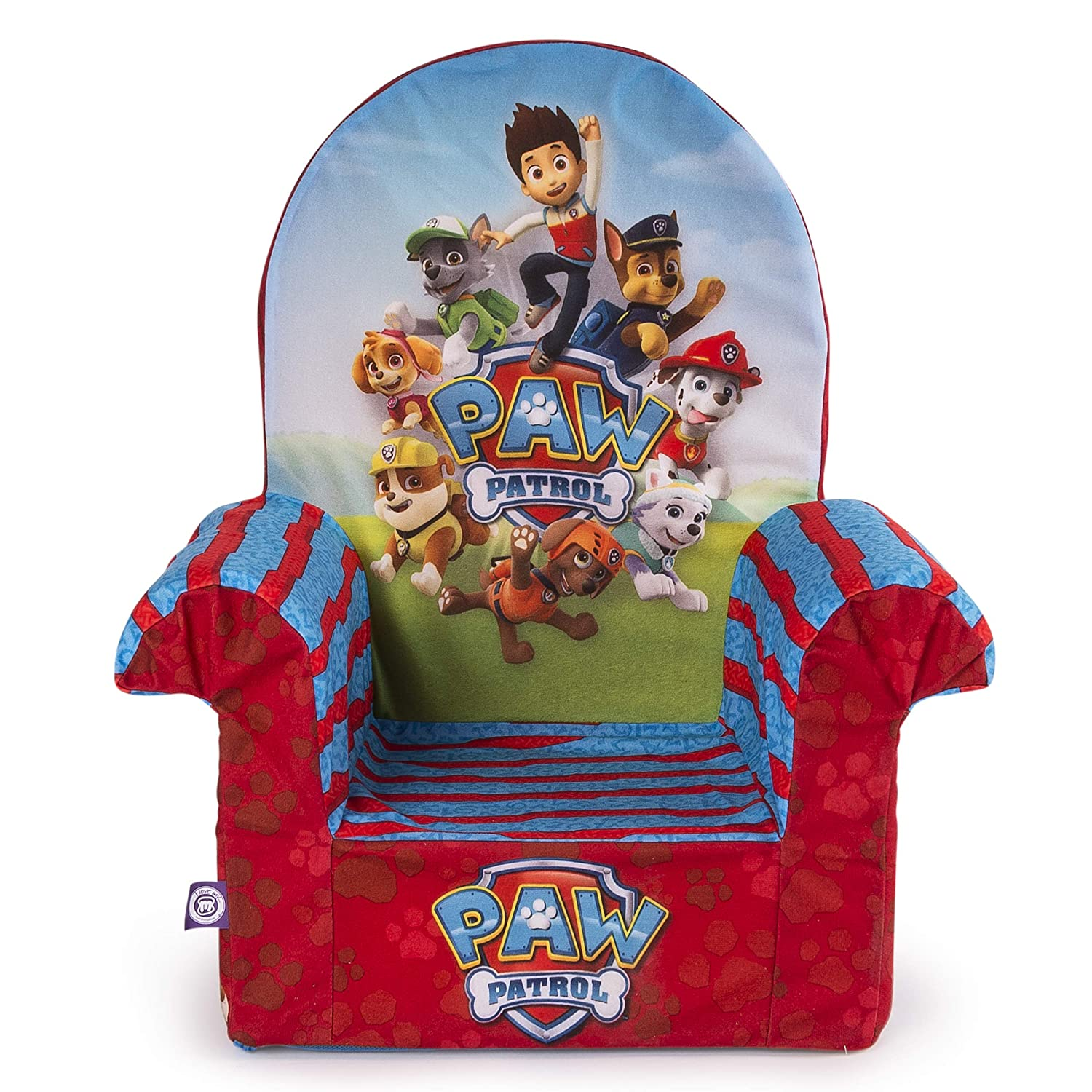 Marshmallow Furniture 20070551 Children's Foam High Back Chair, Nickelodeon Paw Patrol, by Spin Master