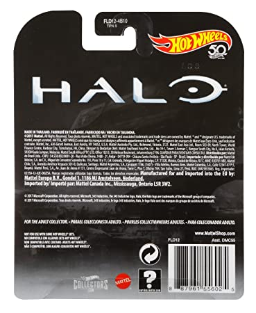 HALO - HOT WHEELS FLD12 - Ruedas metálicas para Jeep Urban Warthog: Amazon.es: Juguetes y juegos