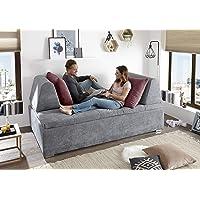 moebel-guenstig24.de Couch Maxim Schlafcouch Bettsofa Schlafsofa Funktionssofa Visco-Topper 6 cm dunkel grau Berry 200 cm