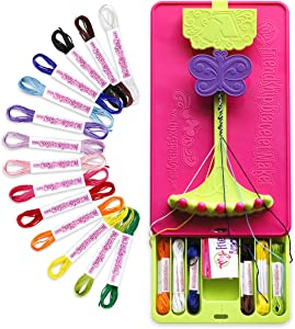 Choose Friendship, My Friendship Bracelet Maker Kit (New Version) - Bracelet Craft Kit and Knot it App Patterns, 56 Threads, Deluxe Traveler Friendship Bracelet Maker