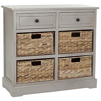Lovely Living Room Custom Wood Grey Storage Unit