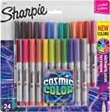 Sharpie Permanent Markers, Ultra Fine Point, Cosmic Color,Edition, 24 Count