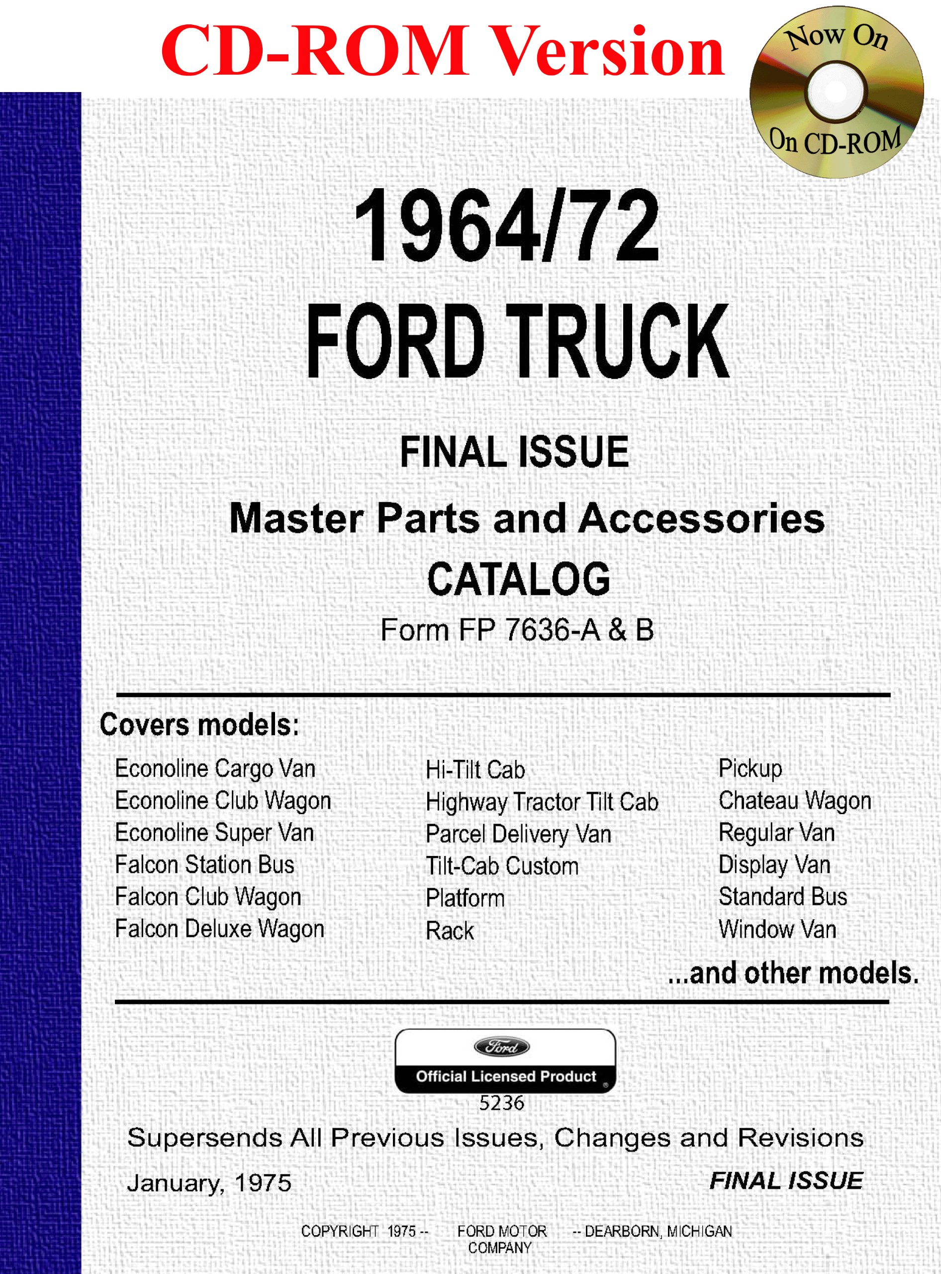 1964 1972 ford truck master parts and accessory catalog ford motor company david e leblanc 9781603710039 amazon com books