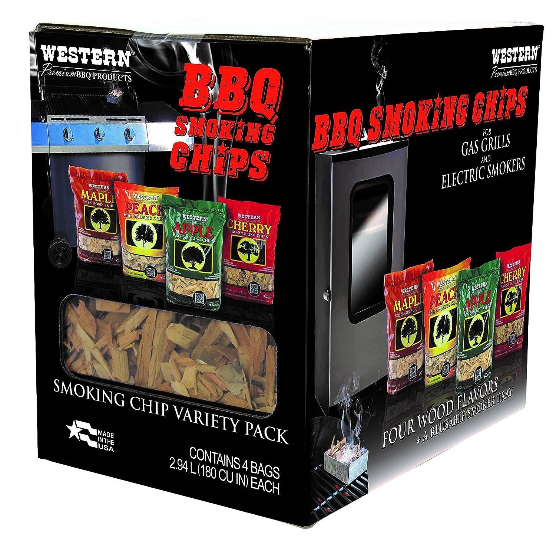 amazon com western 80485 prime wood bbq smoking chips variety