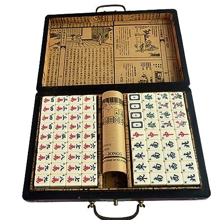 Feng Shui chino Mahjong juegos de mesa para adultos W libre rojo ...