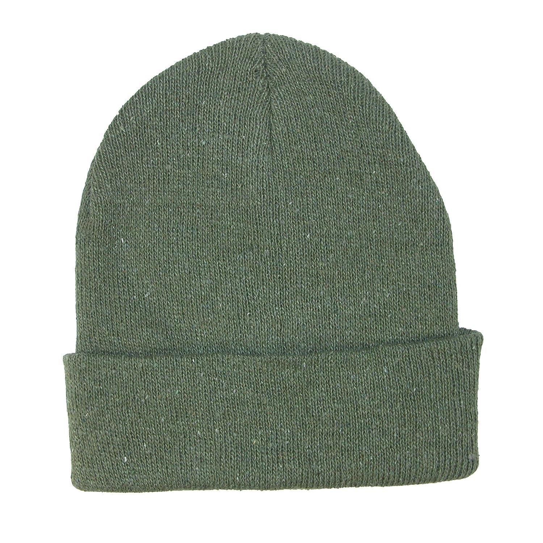 CTM® Kids' Knit Winter Cuff Stocking Cap Olive GM-HATSDARK-OLV