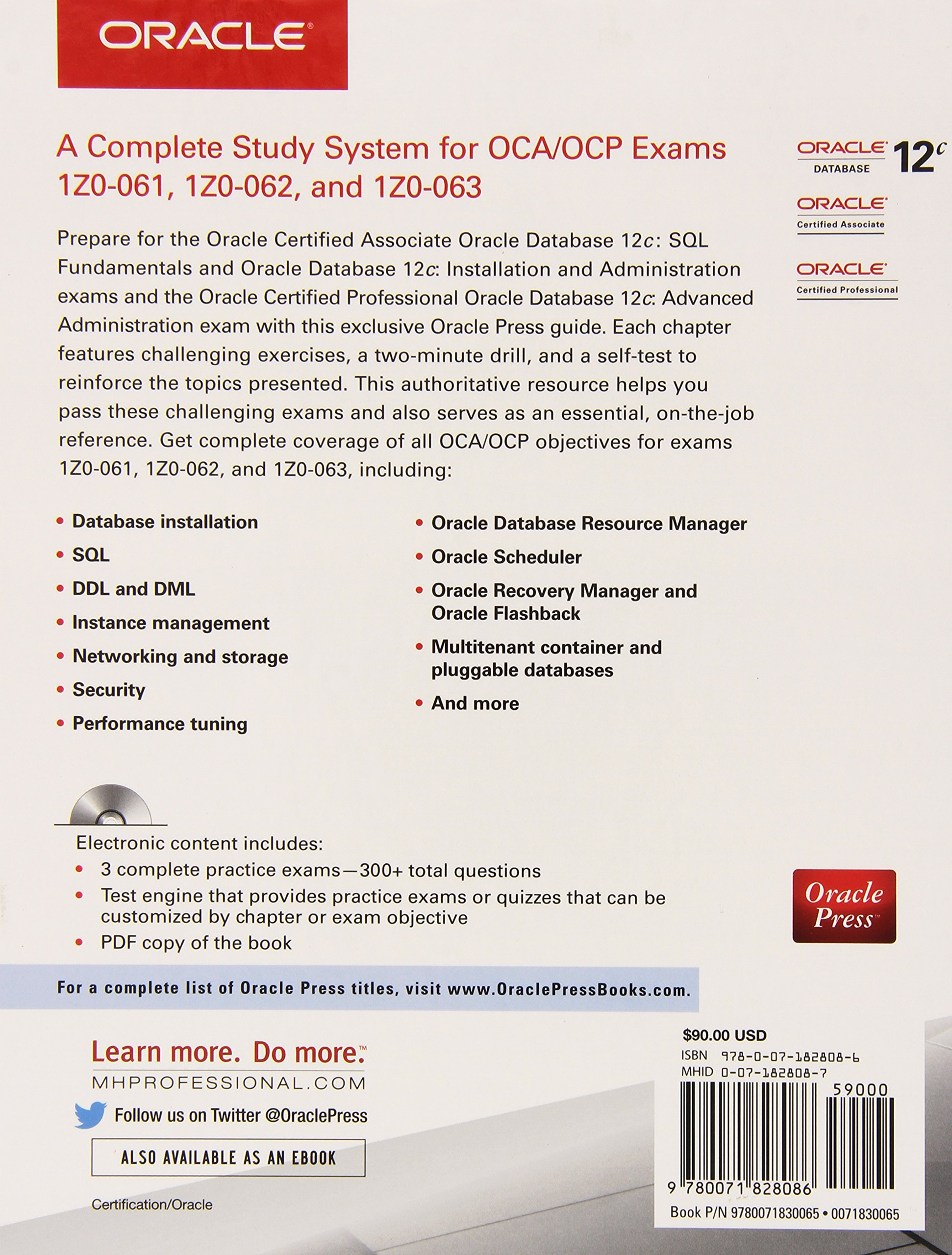 All In One Study Guide For 12c Ocaocp Exams 1z0 061 1z0 062