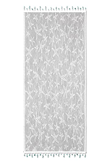 Heritage Lace Starfish Table Runner, 15 By 36 Inch, White