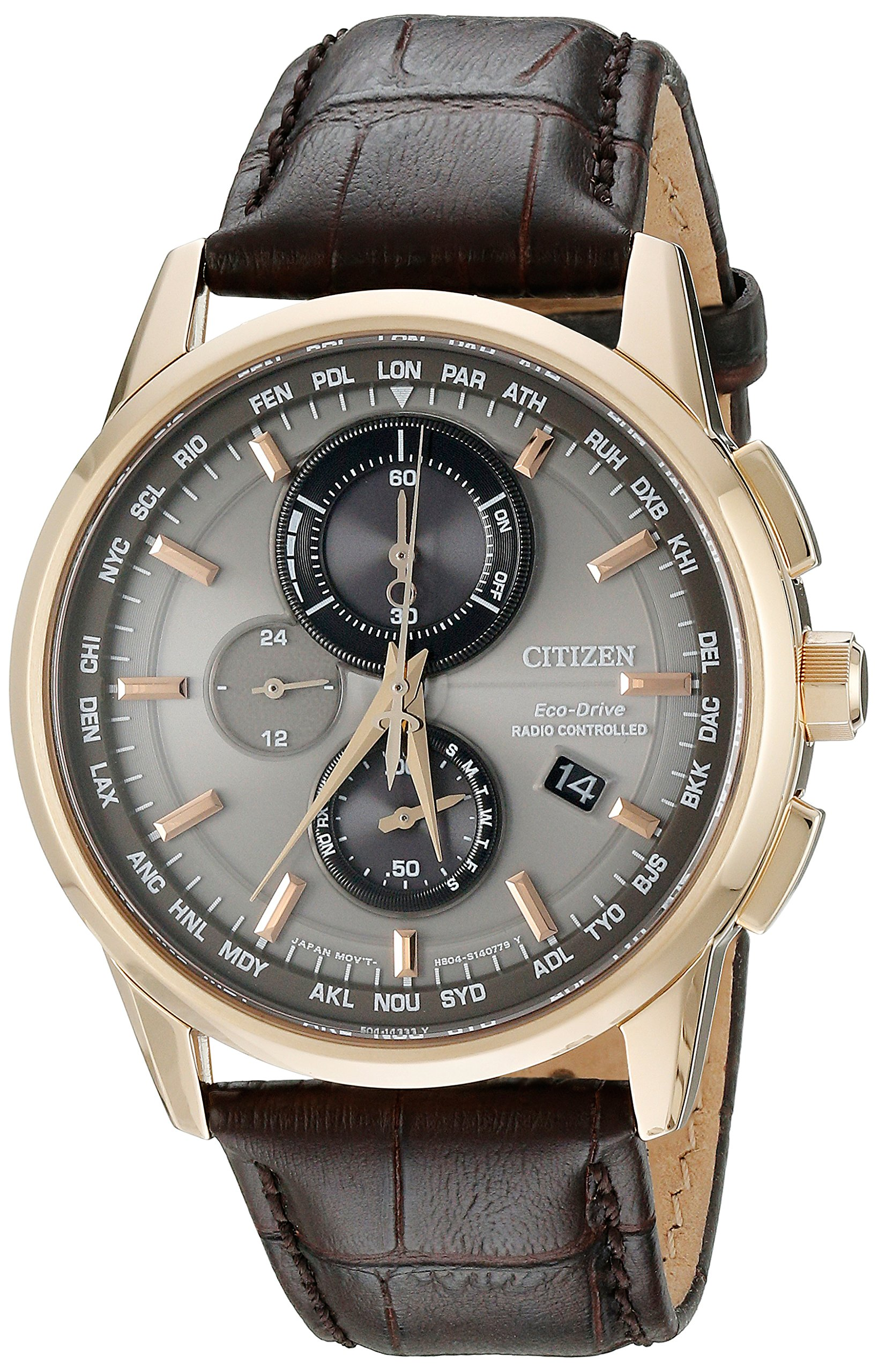 Citizen Men's AT8113-04H World Chronograph A-T Analog Display Japanese Quartz Silver Watch by Citizen