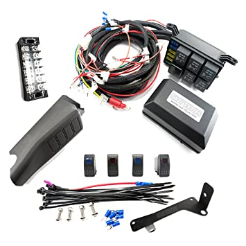 com jeep jk control box switch electronic relay system jeep jk control box 4 switch electronic relay system module wiring harness kit