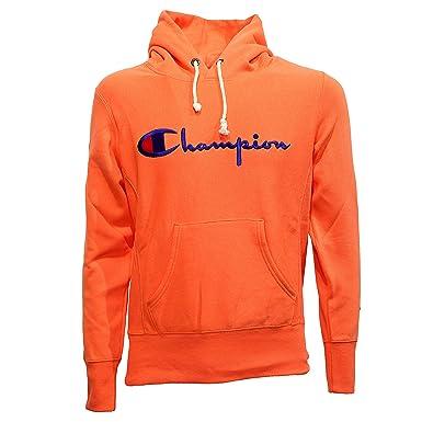 02f69b7b260e sweat champion hommes orange Champion - Sweat-Shirt à Capuche - Homme Orange  Arancio -