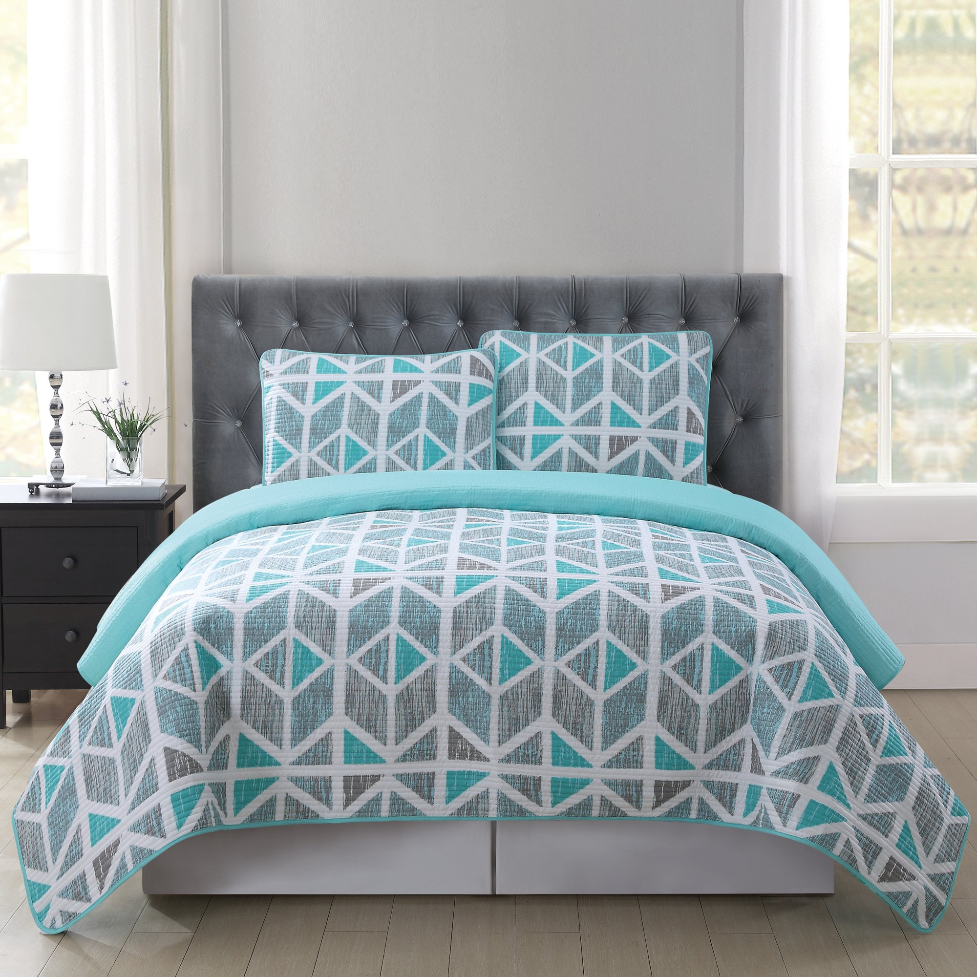 Truly Soft Everyday Design Quilt Set, Twin X-Large, Malene by Truly Soft Everyday