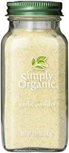 Simply Organic Garlic Powder Large Glass, 103g