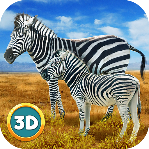Zebra Simulator 3D: Wild Life Horse Fighting Game