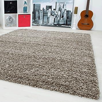 Teppiche Hochflor Shaggy Fur Wohnzimmer Esszimmer Gastezimmer Mit 3 Cm Florhohe Einfarbig