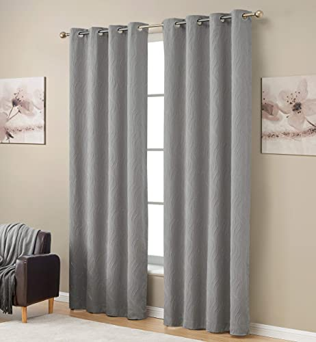 HLC.ME Camden Decorative 100 Full Blackout 2 Layer Winter Heat Blocking Thermal Insulated Energy Savings Noise Cancelling Short Window Curtain Grommet Panel