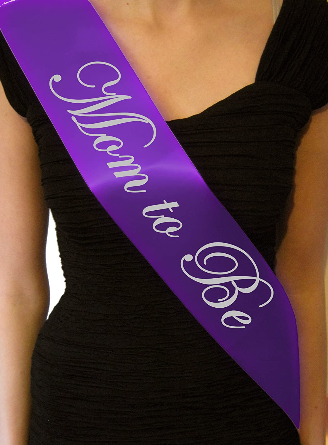 Amazon.com : Purple Mom To Be Baby Shower Sash   Great Gift, Decoration :  Other Products : Baby