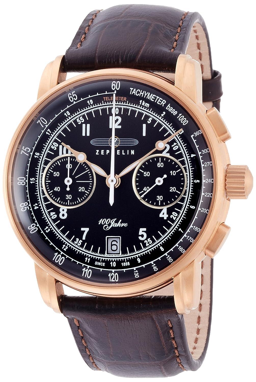 [ツェッペリン]ZEPPELIN 腕時計 100周年記念モデル ブラック文字盤 クロノグラフ 76762 メンズ 【正規輸入品】 B00QX1AKAK