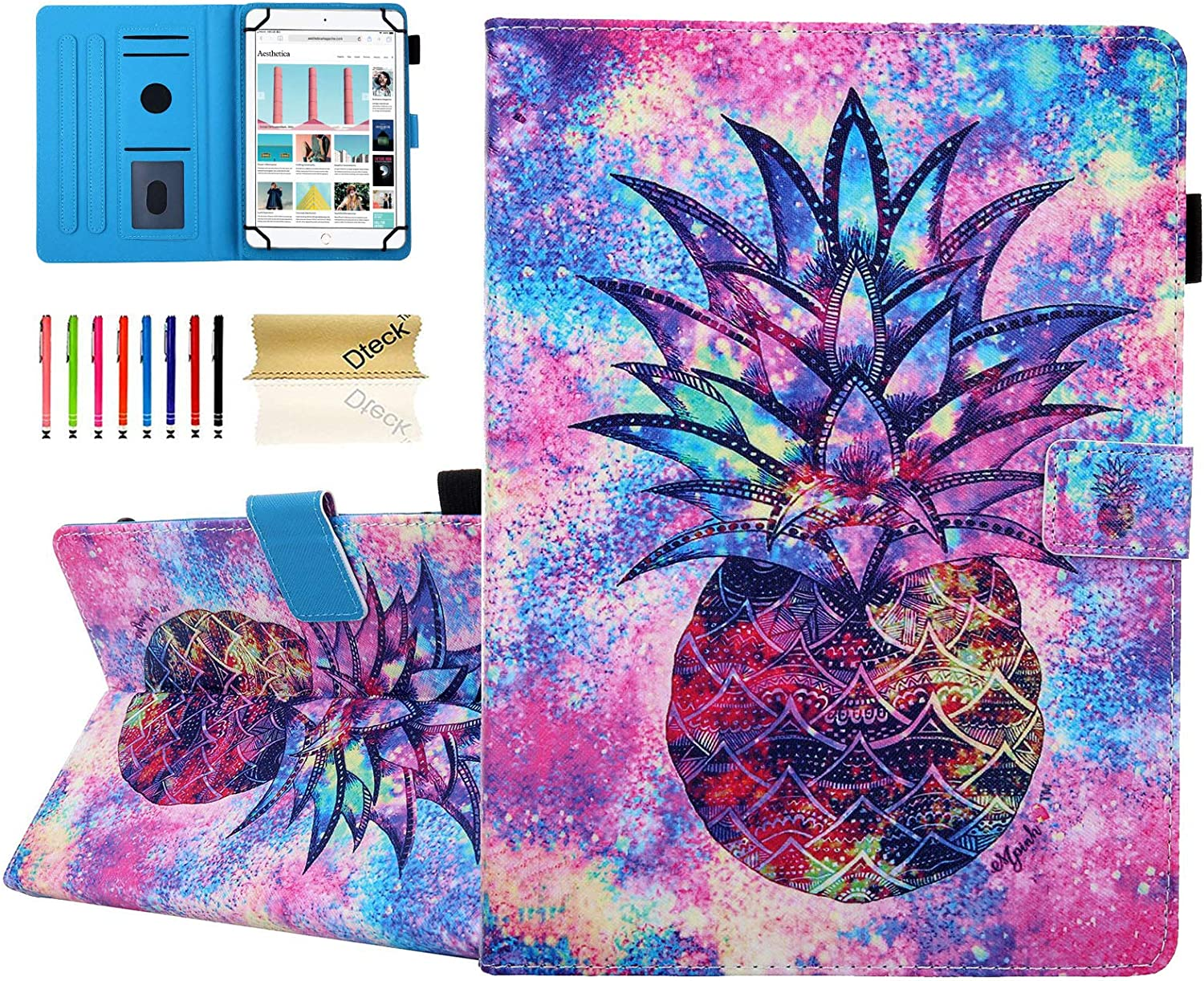 Dteck Universal Case for 7.5-8.5 Inch Tablet - PU Leather Stand Wallet Case for iPad Mini 7.9