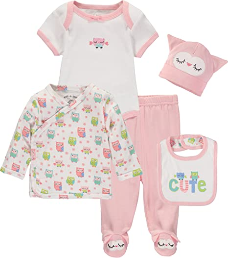 "5 piece /""take me home/"" newborn baby gift set Essentials"