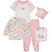 Wan-A-Beez Baby Boys' and Baby Girls' Take Me Home Set. Layette Gift Set for Newborns (Owl, 6 Months)