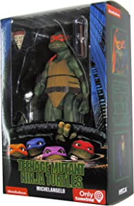 Teenage Mutant Ninja Turtles 90's Movie Michelangelo 6.5-inch Action Figure by NECA Reel Toys 2019 GameStop Exclusive