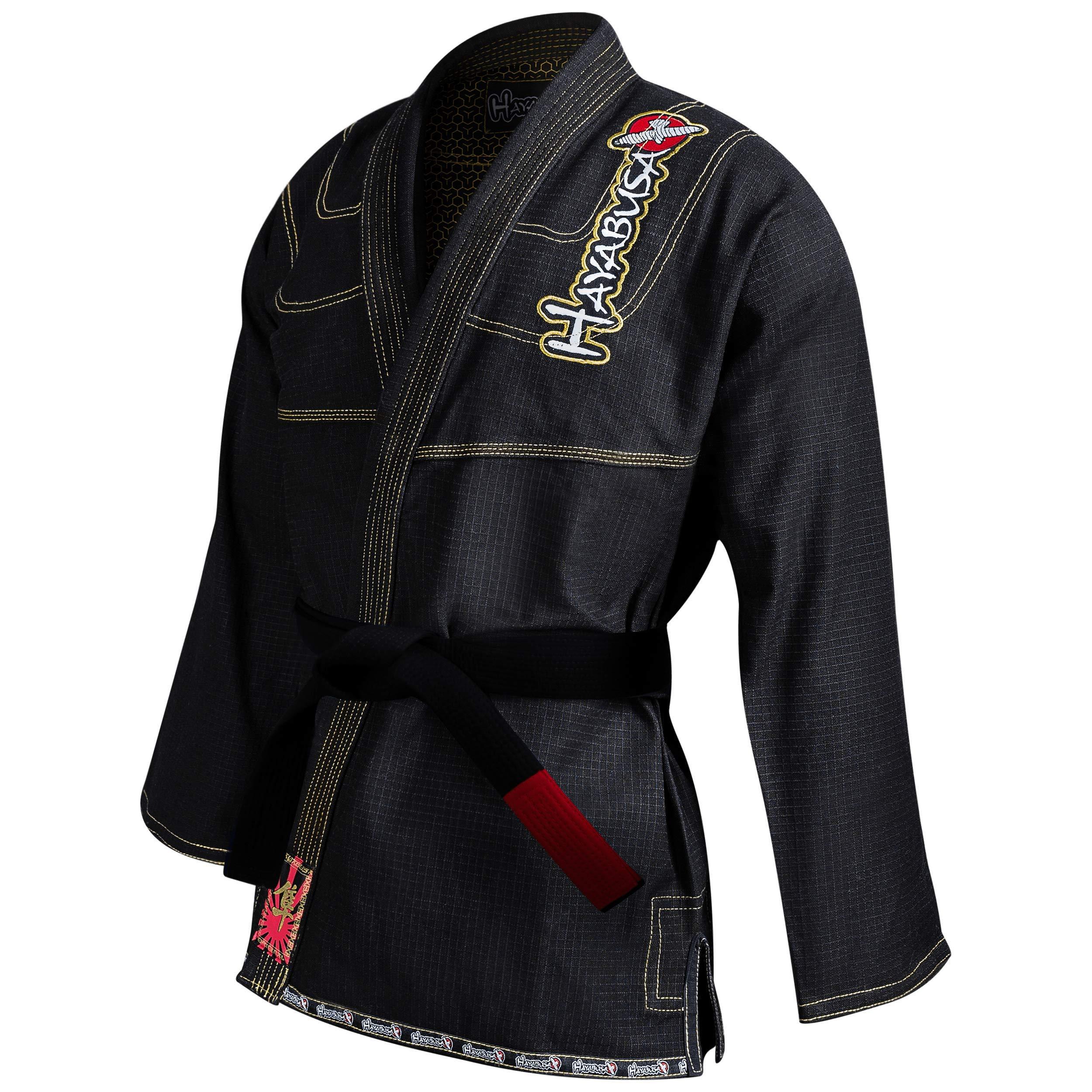 Hayabusa BJJ Gi | Adult Pro Jiu Jitsu Gi - Jacket Only | Black, A1 by Hayabusa