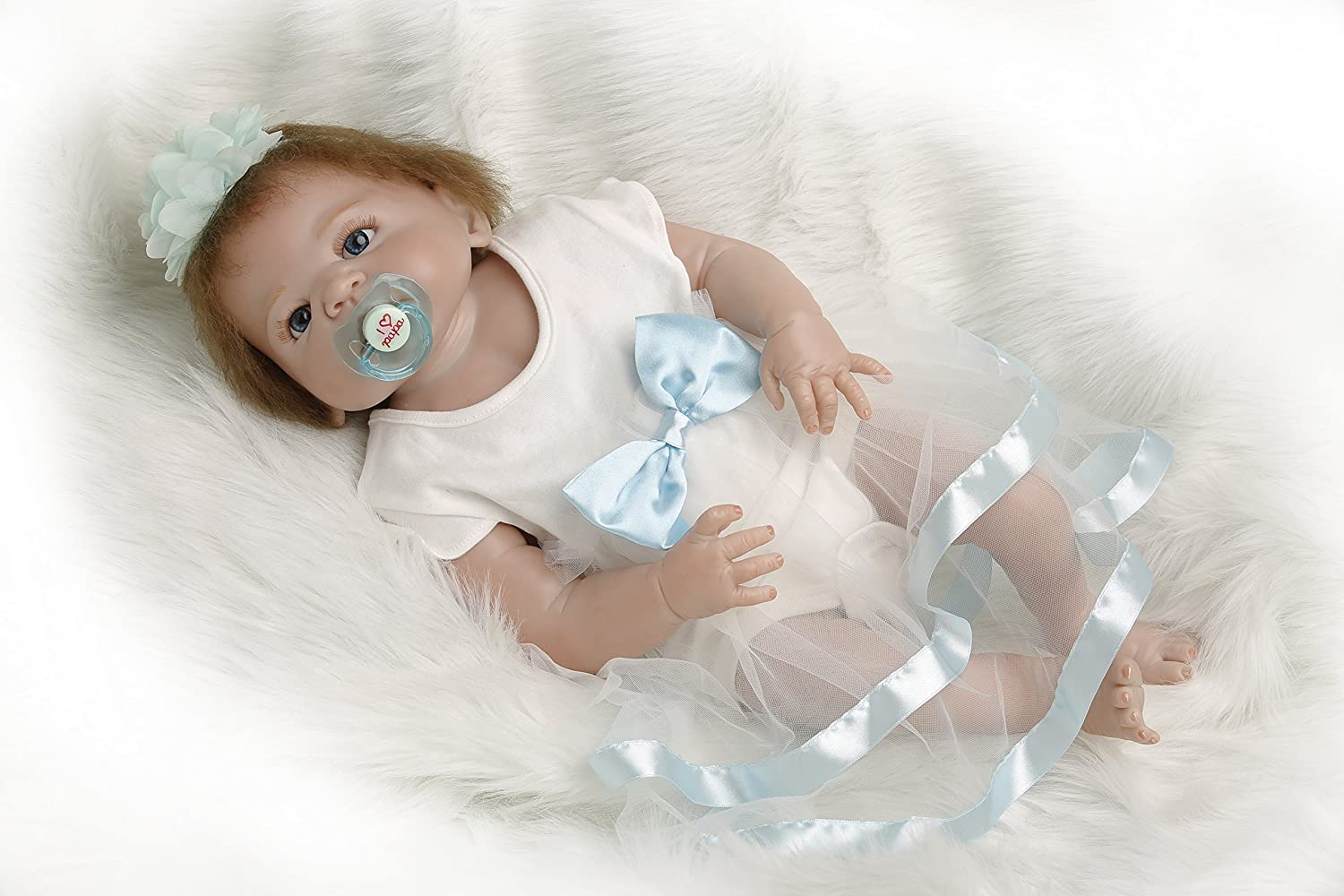 SanyDoll Rebornベビー人形ソフトSilicone 22インチ55 cm磁気Lovely Lifelike Cute Lovely Baby b0763lmqxv B0763LMQXV