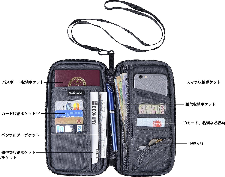 Naturehike Multifunctional Travel wallet Passport Wallet with Hand Strap Passport Holder Travel Organizer Wallet for Card Money Ticket Mobile