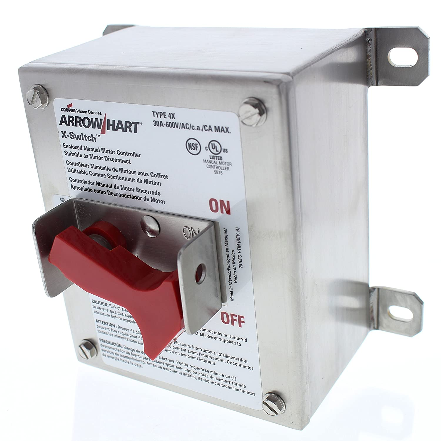Cooper Wiring Devices Ah7810xc00s 316 4x Sw 316ss No In Out Ss Arrow Hart Drain Switches Dimmers Amazon Canada